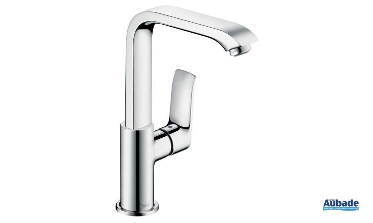 Mitigeur lavabo design et économique Metris de Hansgrohe avec limiteur de débit