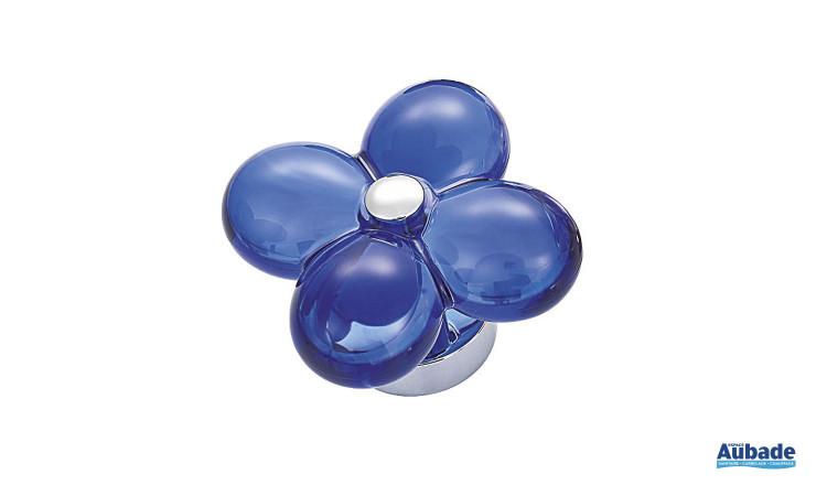 Mitigeur avec manette en forme de fleur Fleur de Horus coloris bleu