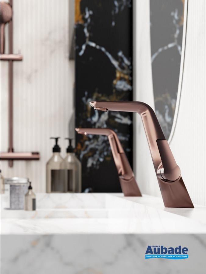 Mitigeur lavabo avec raccords flexibles Naja de la marque Horus