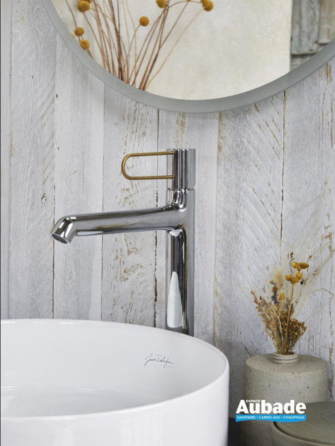 Mitigeur lavabos & vasques Odéon Rive Gauche de Jacob Delafon - bec haut Doré