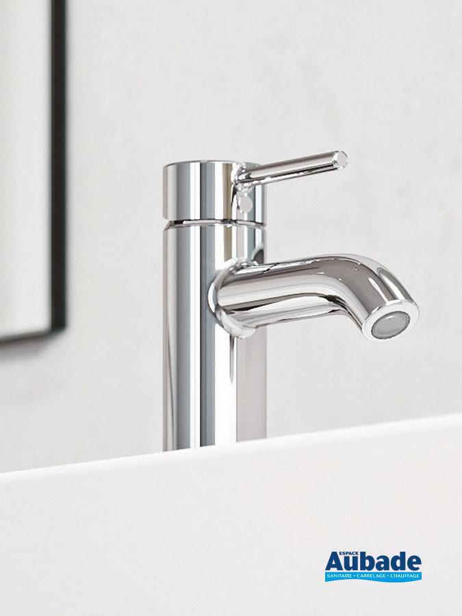 Mitigeur lavabo bas New Bozz coloris chromé avec vidage push open de Kludi