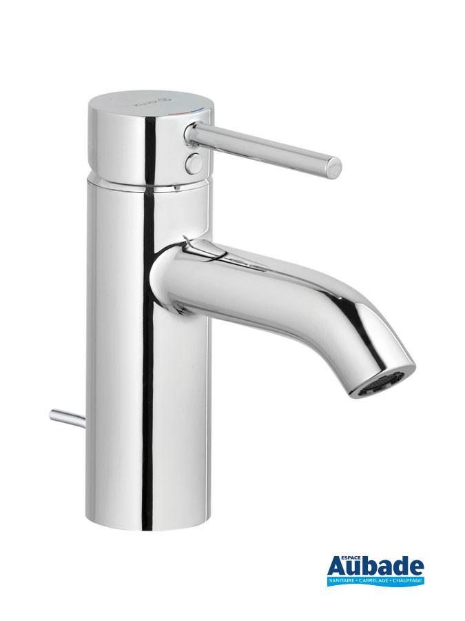 Mitigeur lavabo bas New Bozz coloris chromé avec vidage tirette par Kludi