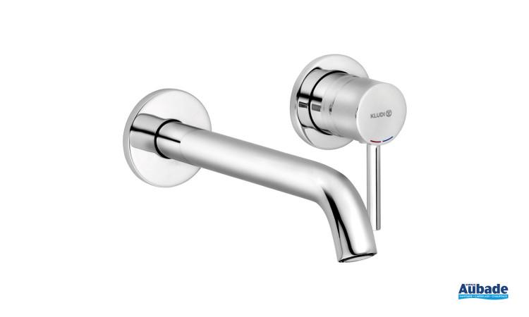 Mitigeur lavabo encastré New Bozz saillie 230 finition chromé de Kludi