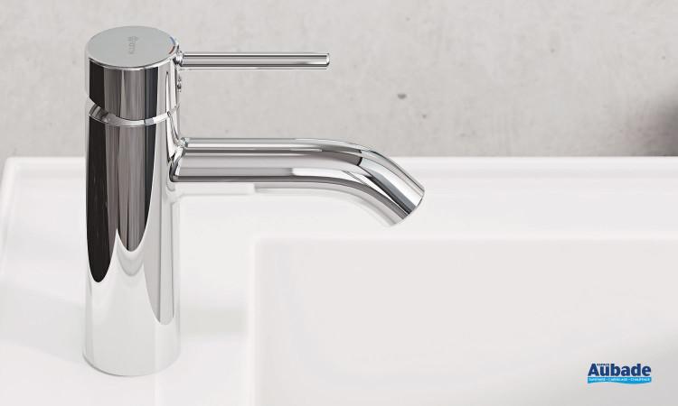 Mitigeur lavabo medium New Bozz finition chromé avec vidage push open par Kludi