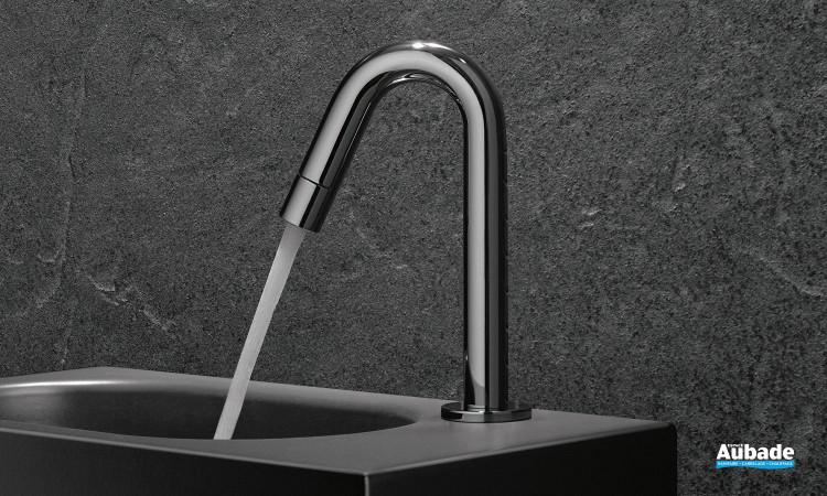 Robinet lave-mains eau froide New Bozz coloris chromé par Kludi