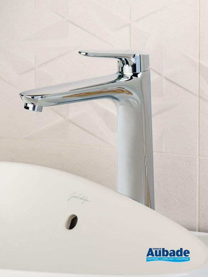 Mitigeur de lavabo et vasque rehaussé Clivia finition chromé de la marque Vigour