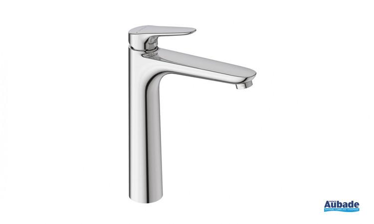 Robinet mitigeur rehaussé pour lavabo et vasque Clivia coloris chromé de la marque Vigour