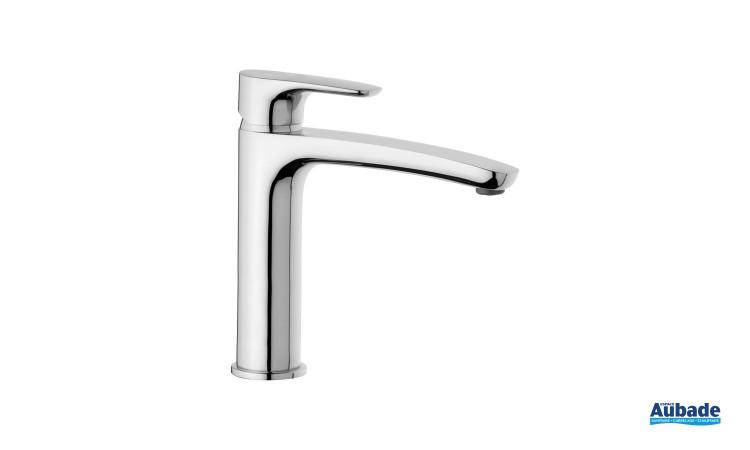 Mitigeur lavabo rehaussé Parallèle 2 finition chromée de la marque Paini Italie