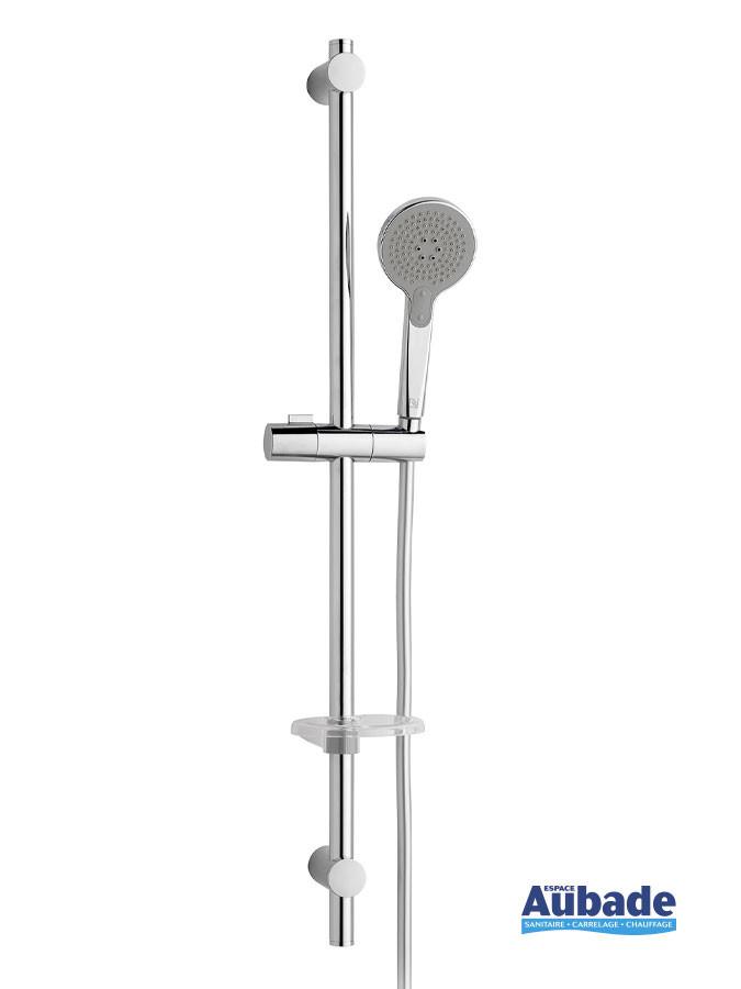 Ensemble barre de douche et douchette chromé Slide Bar II par Nikles