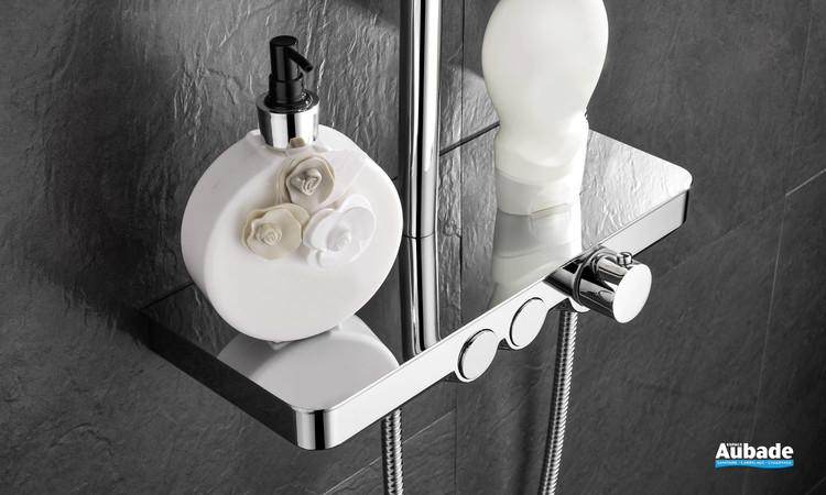 Robinet mitigeur thermostatique avec tablette Drop Shower