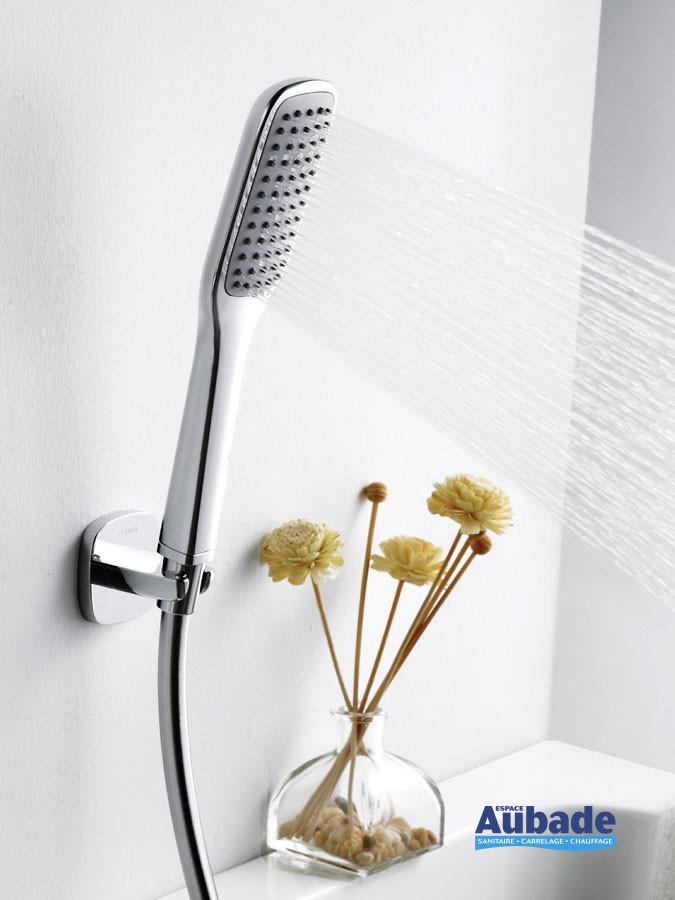 Set de douche chromé pour mitigeur bain douche Birdy de la marque Paini