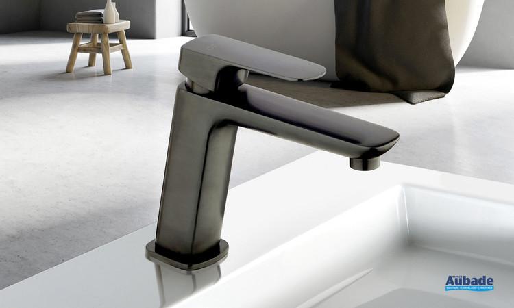 Mitigeur lavabo medium New-York en PVD noir brossé par Paini France