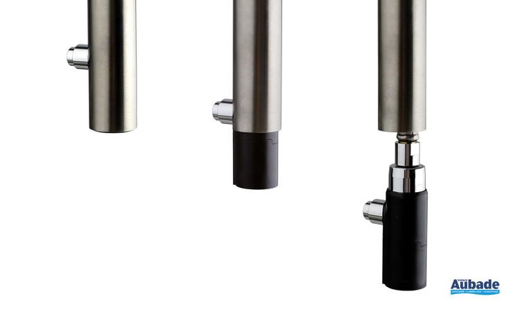 Douchette extractible du mitigeur bec haut rond Parallèle 2 finition PVD gris pour évier de cuisine de la marque Paini Italie