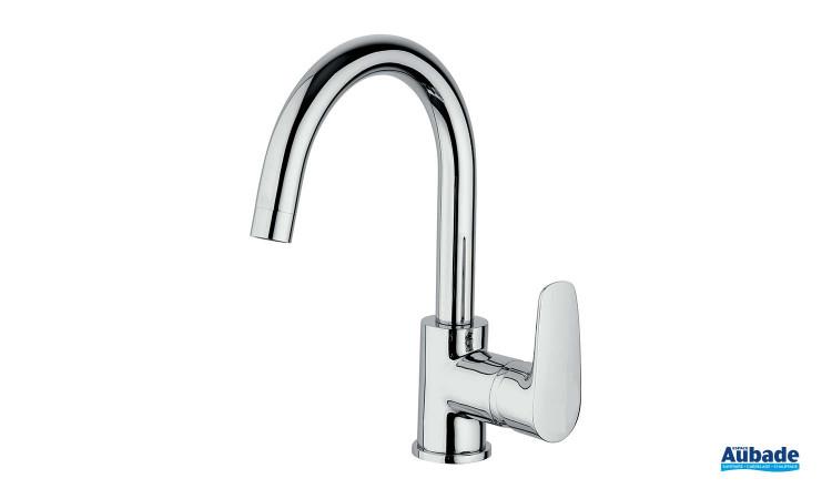 Mitigeur lavabo bec haut Parallèle 2 finition chromée de la marque Paini Italie