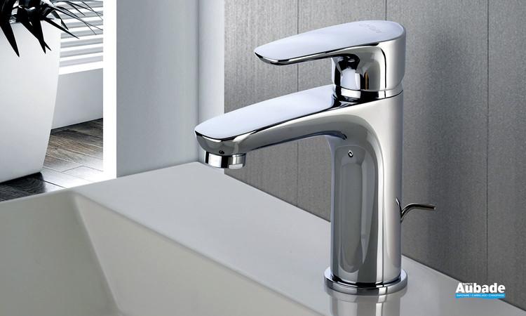 Mitigeur lavabo medium Parallèle 2 finition chromée de la marque Paini Italie