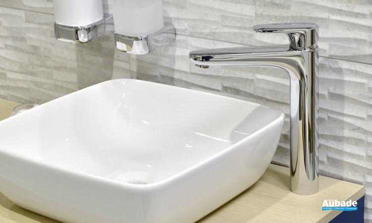 Robinet mitigeur rehaussé Derby Style pour lavabo et vasque finition chromée par Vigour