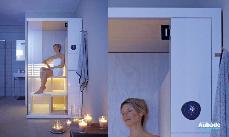 Sauna compact Duravit, confortable et propice à la détente