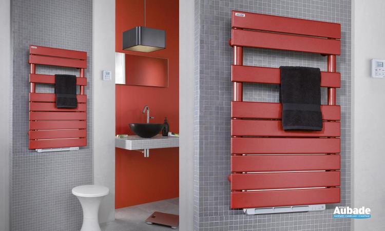 Radiateur sèche-serviettes soufflant rouge Régate+ Air d'Acova