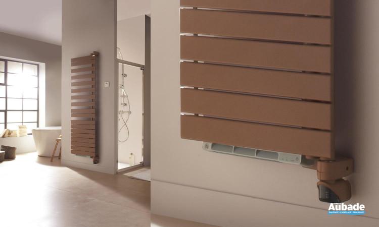 Radiateur sèche-serviettes Regate +Air de Acova, pratique avec fonction chauffant pour plus d'économies coloris marron