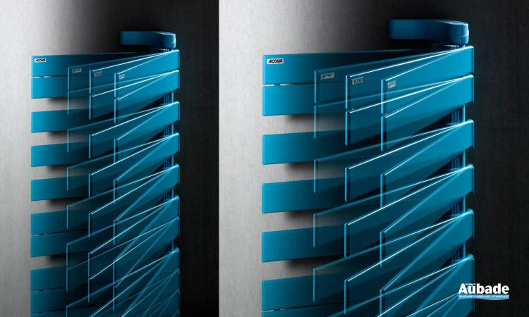 Radiateur sèche-serviettes Regate +Air de Acova, pratique avec fonction chauffant pour plus d'économies coloris bleu