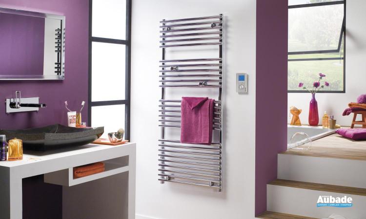 Radiateur sèche-serviettes Timelis Chrome de Atlantic alliant design, performance et ergonomie