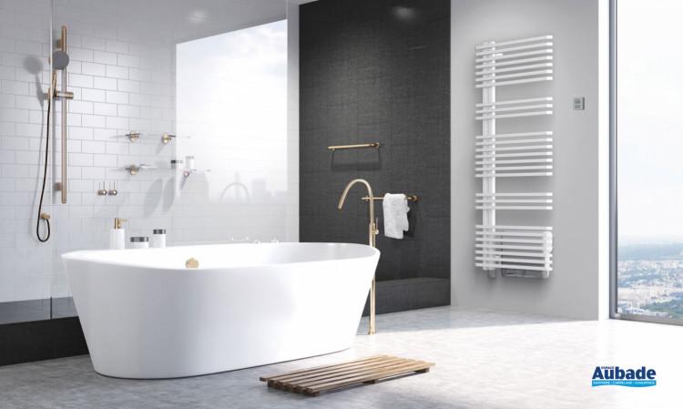 Radiateur sèche-serviettes Kam électrique avec soufflerie coloris Blanc de la marque Irsap