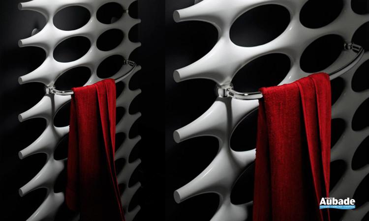Radiateur chauffage Ideos Kermi coloris blanc avec barre porte-serviettes