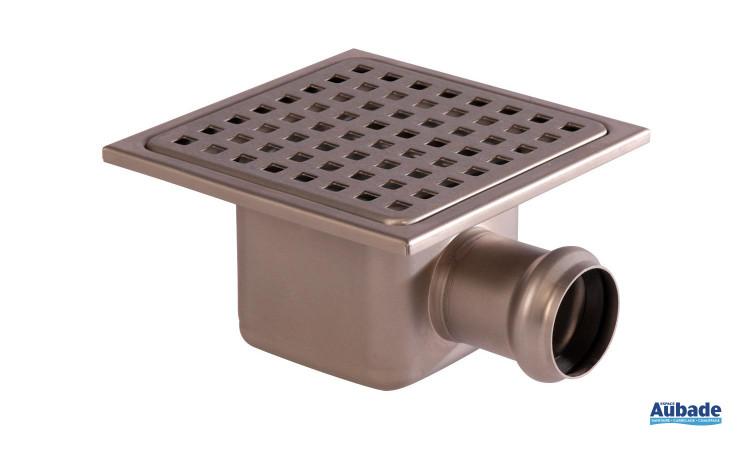 Siphon de sol carré Inox 304 de Gebo avec sortie verticale