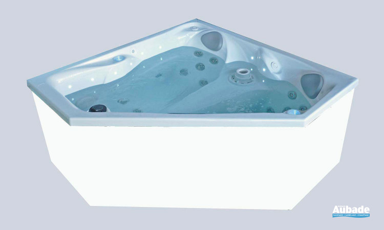 Spa d'angle Ibiza qui s'adaptera à tous les angles de votre salle de bain