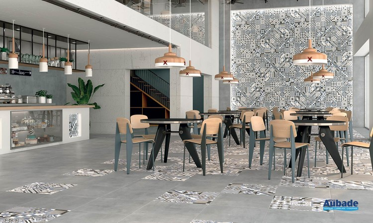Collection Maxxi Rivet par Tau Ceramica en coloris Gray