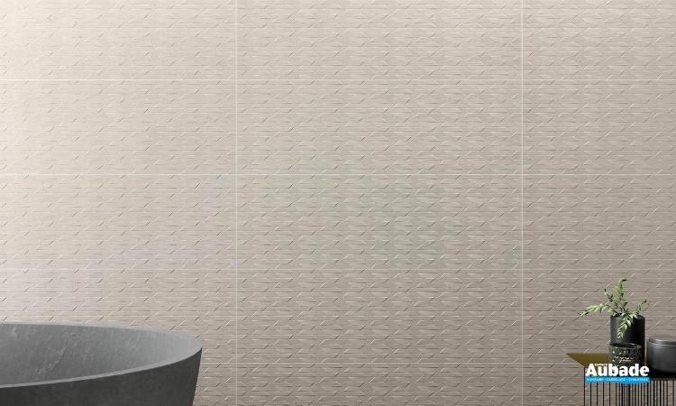 Collection Palomastone Wall par Tau Ceramica en décor RLV Neo White