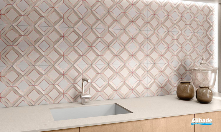 Collection Quabbella par Tau Ceramica en coloris Coral
