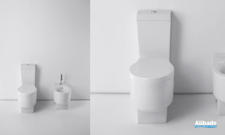 Ensemble WC équipé d'une cuvette sortie horizontale avec abattant et réservoir Formilia Viragio de Jacob Delafon