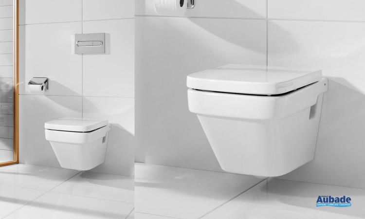 WC équipé d'une cuvette suspendue compacte Dama-N suspendu de Roca