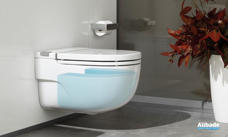 Réservoir d'eau 3 / 4.5 L dans la cuvette équipé du système « soft air » de Roca