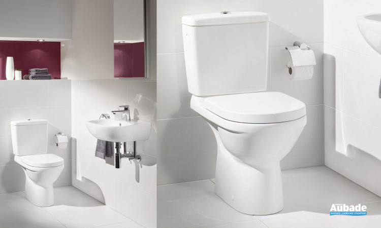 Ensemble WC avec cuvette compacte O.novo Compact de Villeroy & Boch