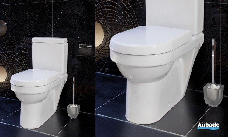 Ensemble WC avec cuvette à fond creux à sortie horizontale Architectura de Villeroy & Boch