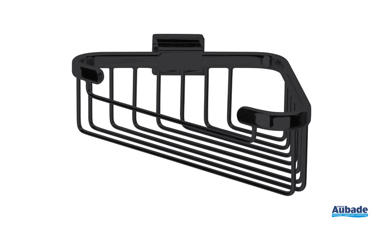 Accessoire panier porte-savon d'angle Cubo coloris Noir mat par Inda