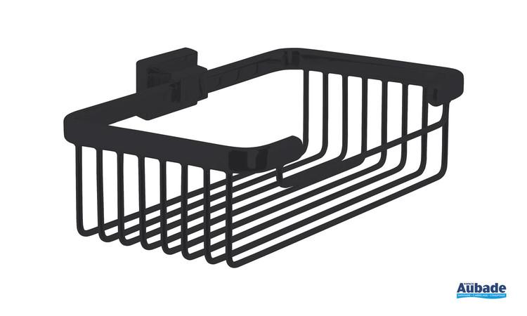 Accessoire panier porte-savon Cubo coloris noir mat par Inda