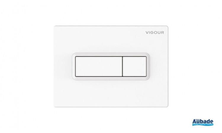 Plaque de commande Derby Style Square coloris blanc par Vigour
