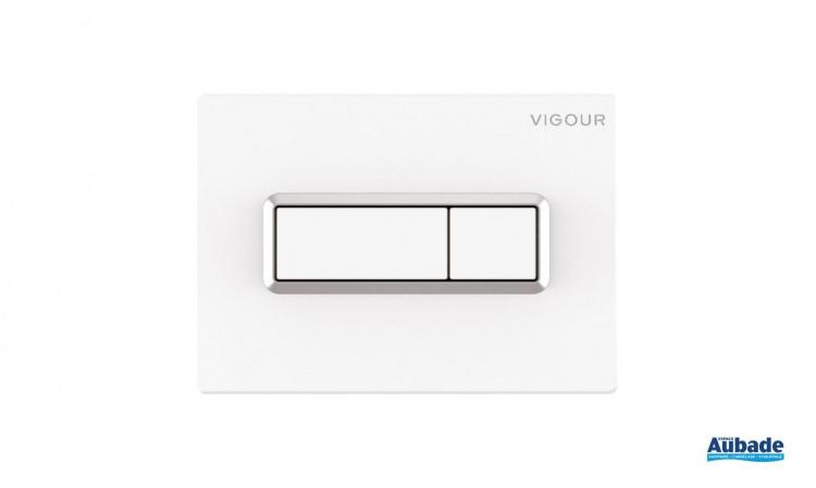 Plaque de commande Derby Style Square coloris blanc et chromé de Vigour