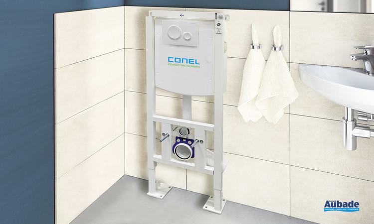 Bâti-support autoportant pour wc suspendu élaboré par la marque Conel