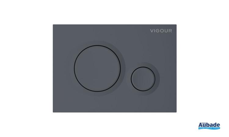 Plaque de commande WC Round de la gamme Derby Style coloris Anthracite mat par Vigour