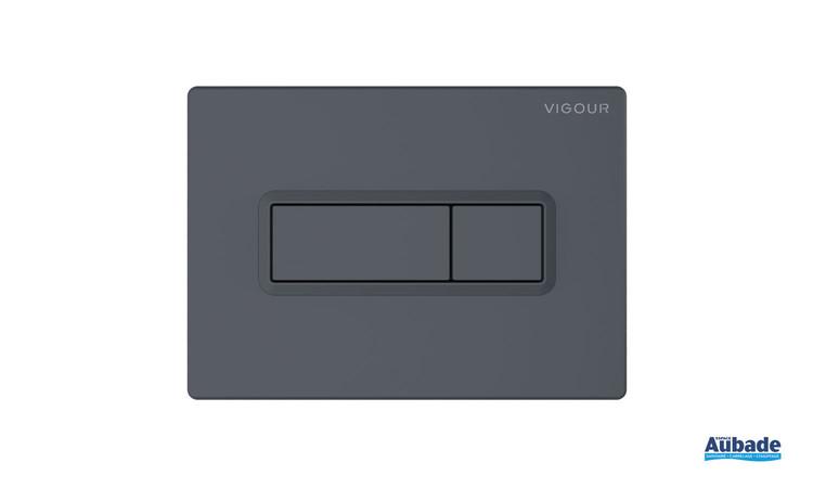 Plaque de commande WC Square de la gamme Derby Style coloris Anthracite mat de la marque Vigour