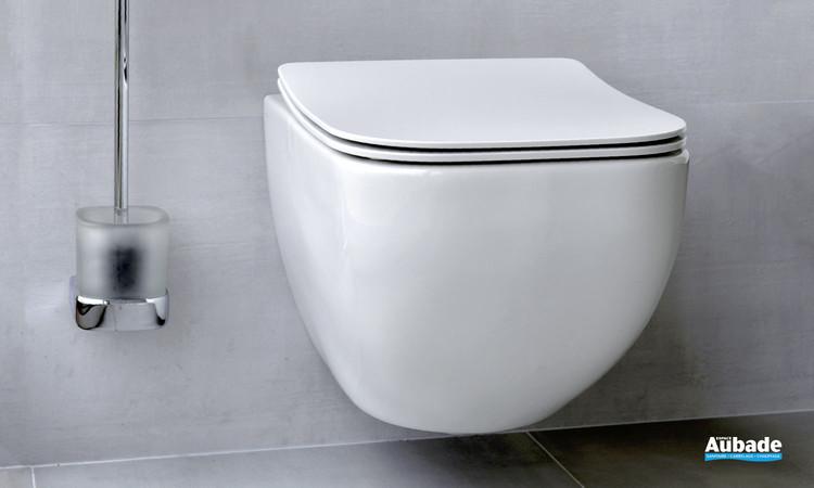 WC suspendu Derby Style sans style glisse avec abattant slim par Vigour