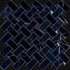 Mosaïque Emil Ceramica Tele di Marmo Revolution Calcatta Black Intrecci