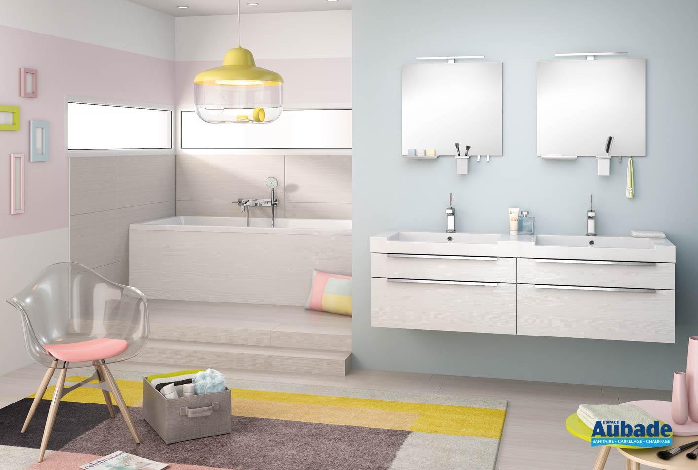 Meuble salle de bains togo blanc Inspirations Urbain ...