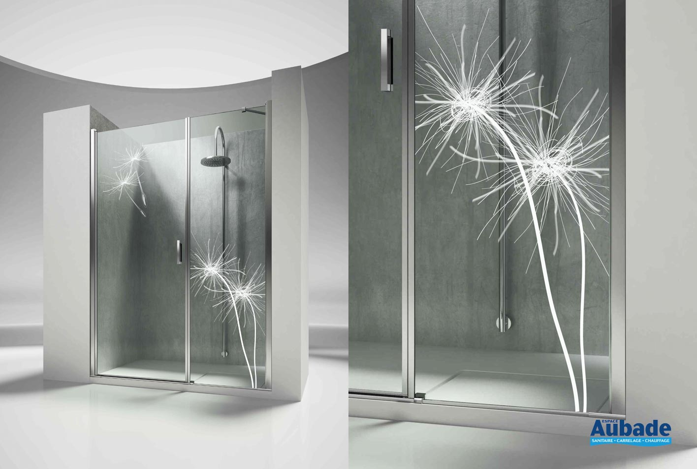 paroi de douche portes battantes vismara linea espace aubade. Black Bedroom Furniture Sets. Home Design Ideas