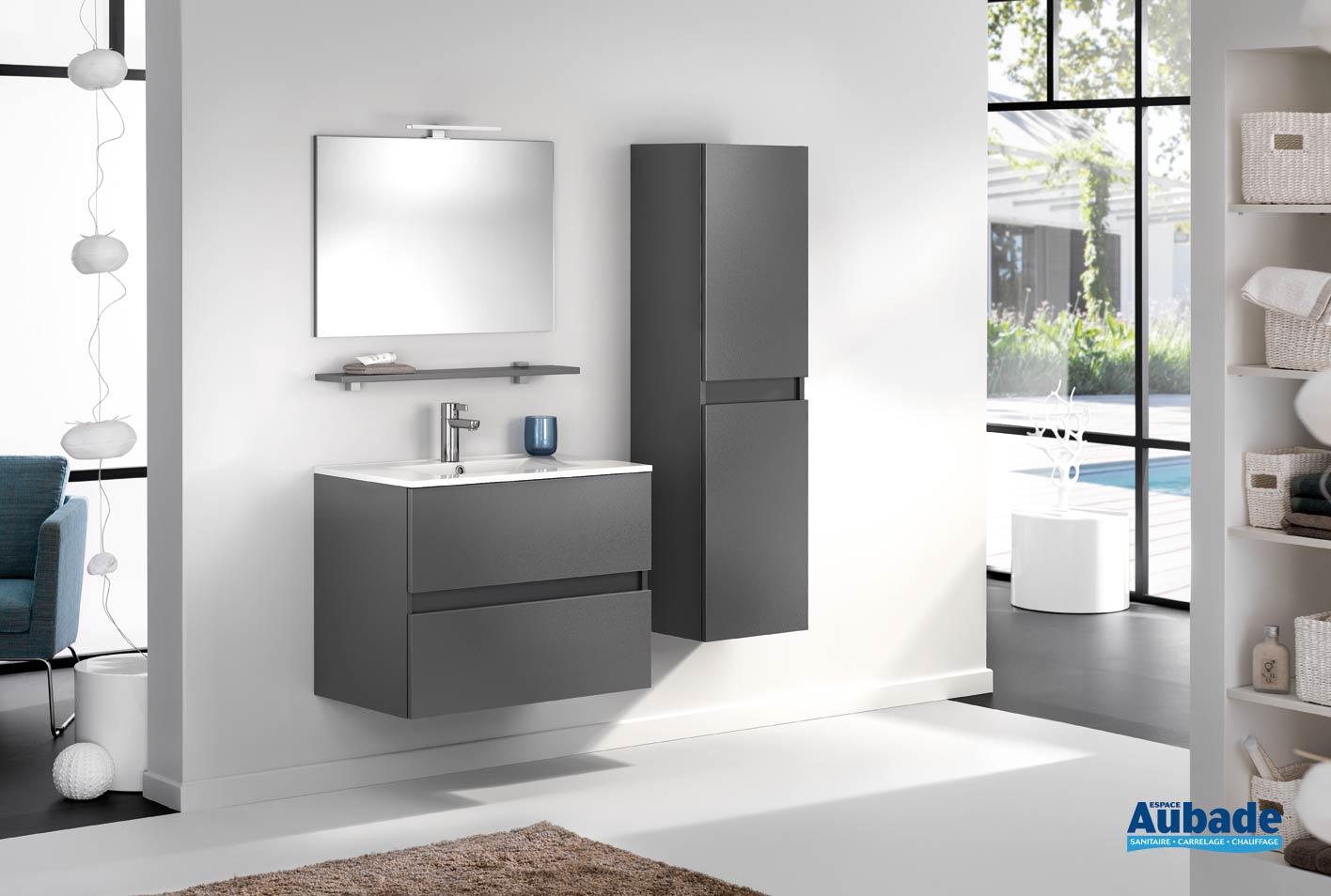 Meuble de salle de bains avec 20 coulissants D-Motion L. 20 cm Graphite  satiné par Delpha