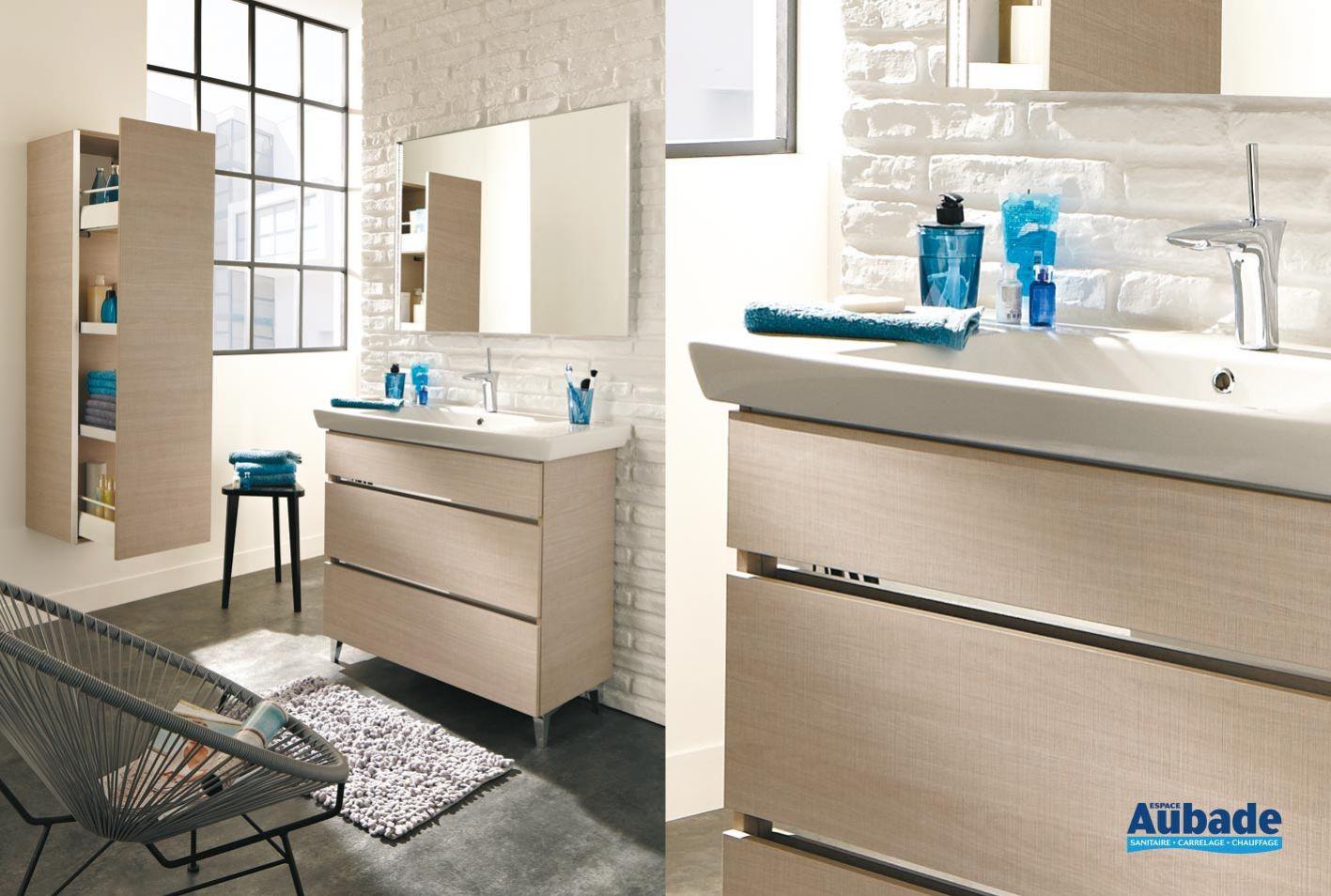 Meuble salle de bain contemporain Lido Eureka  Espace Aubade
